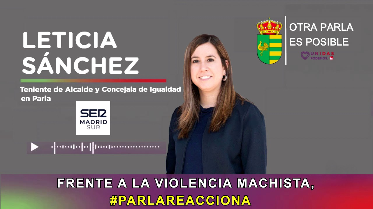 Entrevista Leticia Sánchez en LA SER con motivo de la semana del 25-N