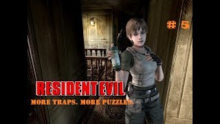 Resident Evil Remake Game Movie PART 5 - More Traps. More Puzzles.