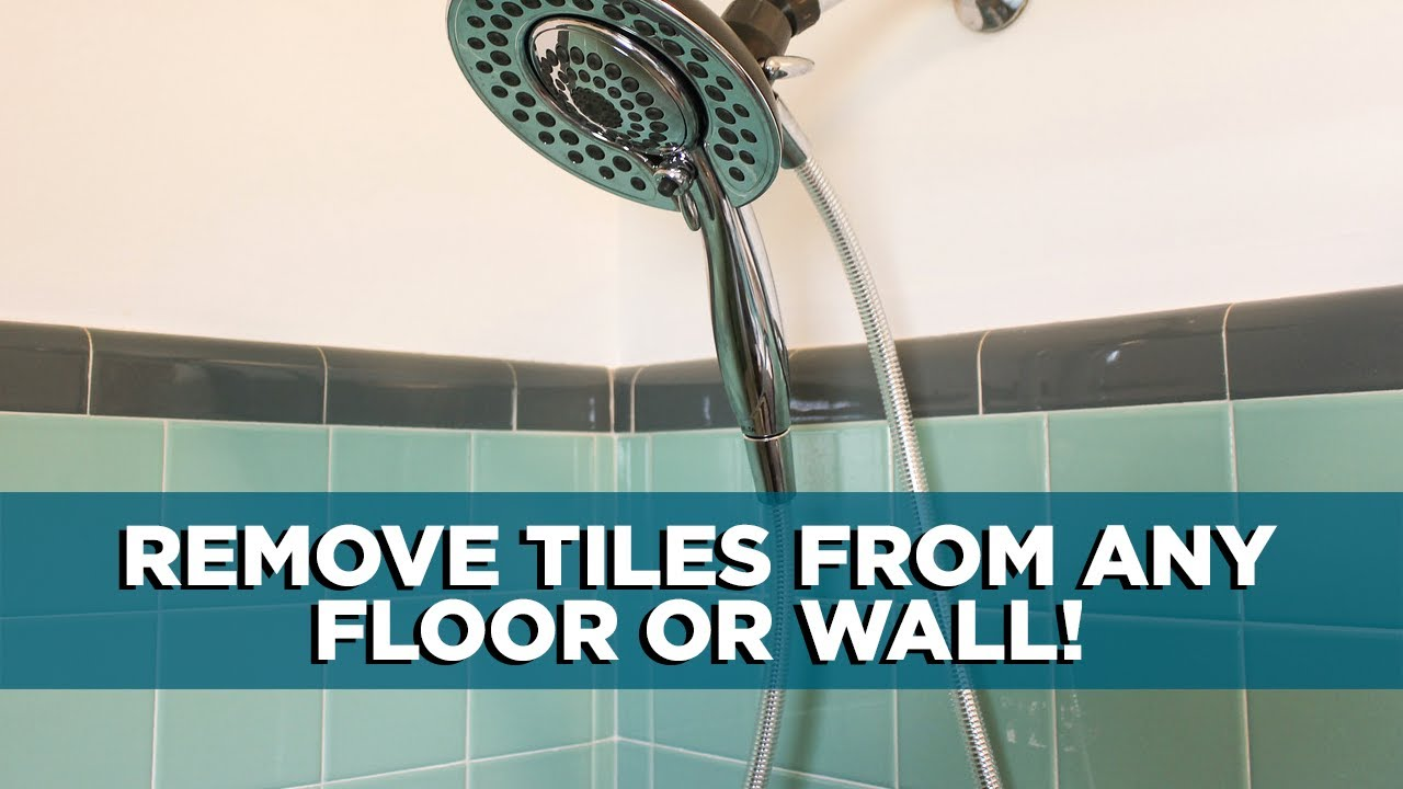 How To Remove A Tile From A Floor Or Wall YouTube - How to repair bathroom floor tile