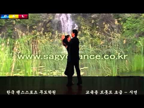 댄스원 - 사교댄스 교육용 트로트 초급 - 시연