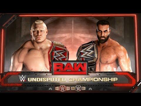 WWE 2K18 Unification Match | Jinder Mahal vs Brock Lesnar | WWE Championship & Universal Title