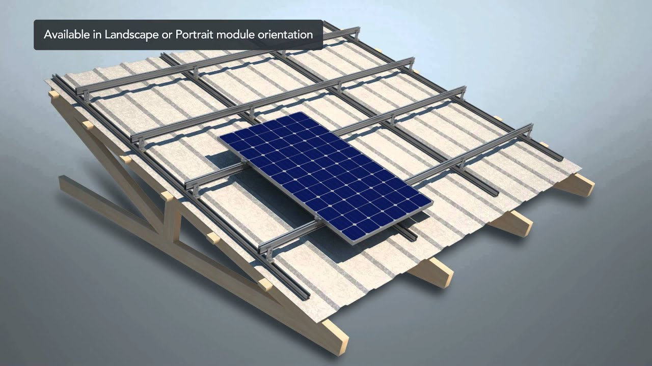 Hb Solar Skyrack Flush Mount Rooftop Pv Animated