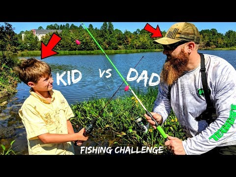 DAD vs KID Fishing CHALLENGE (Loser Does WHAT???)