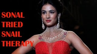 Sonal Chauhan has tried snail therapy When Sonal Chauhan was in Lon...