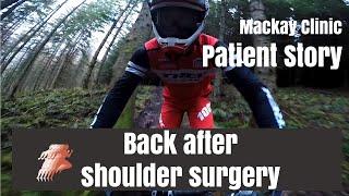 Pro mountain biker back on track after shoulder surgery