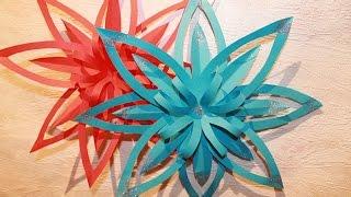 Новогодние украшения - ФИГУРНАЯ СНЕЖИНКА из бумаги - How to Make Paper Snowflakes