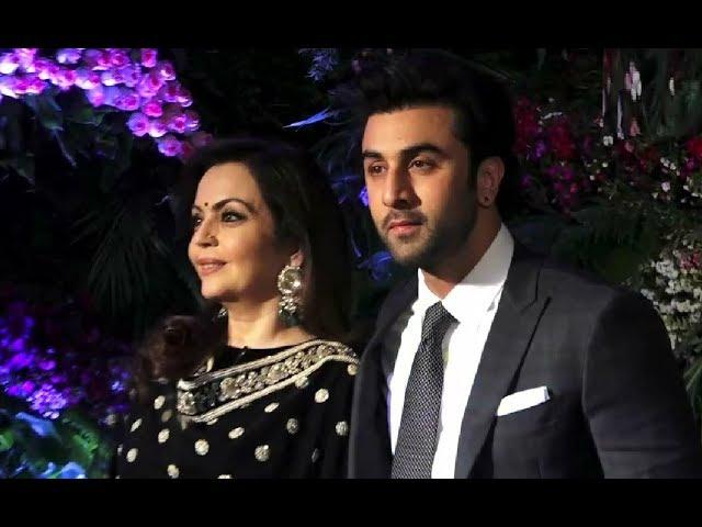 Ranbir Kapoor,  Nita Ambani At Virat Kohli And Anushka Sharma Mumbai Reception