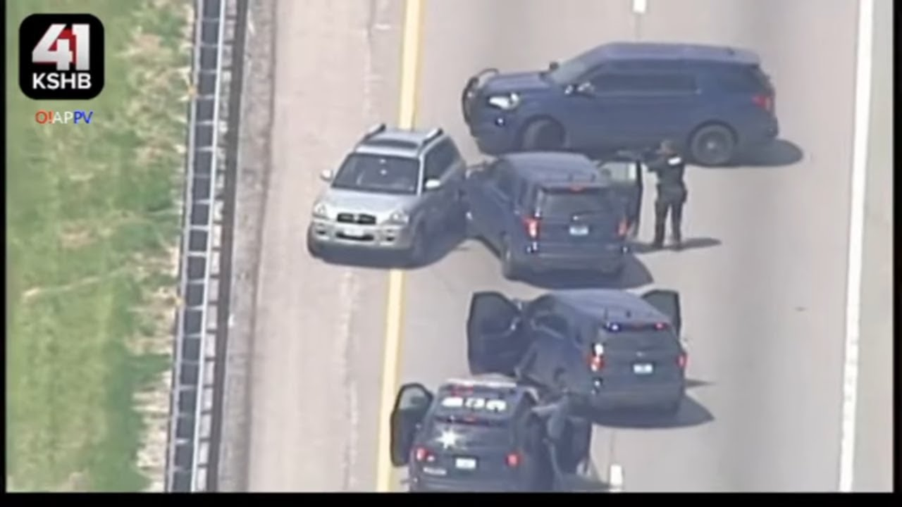 Kansas City Police Chase Ends WIth Pit Maneuver - April 29. 2020 - YouTube