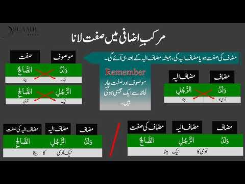 Easy Arabic Grammar Lesson 16 (Adjective in additional phrase)