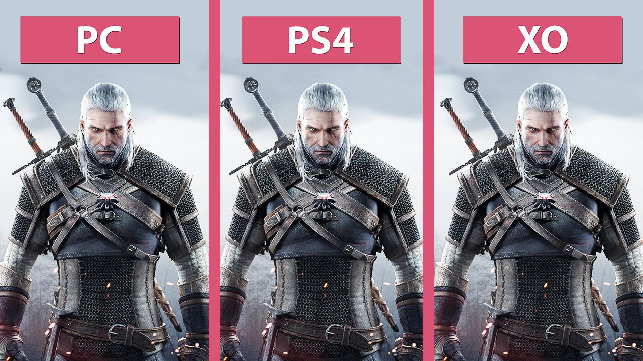 the witcher 3 wild hunt pc ultra vs ps4 vs xbox one day one patch 60fps fullhd youtube. Black Bedroom Furniture Sets. Home Design Ideas