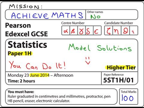 GCSE Statistics Edexcel June 2014 (complete paper)