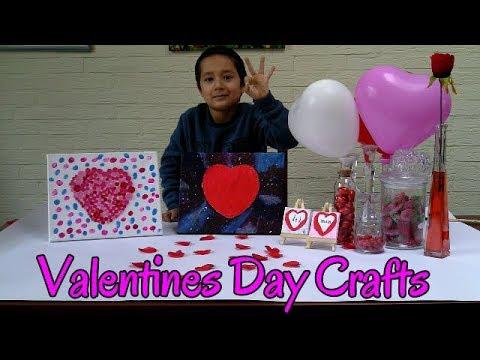 Valentines day crafts/Valentines button heart / Valentines Day canvas painting ideas