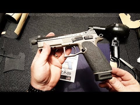 CZ P-09 DIY Grip Tape Install!!!  CZ P-09 Tactical Supreme!!