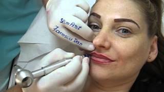 Tatuaj buze make-up artist Zarescu Dan Clinica SlimArt micropigmentare contur buze tatuaj