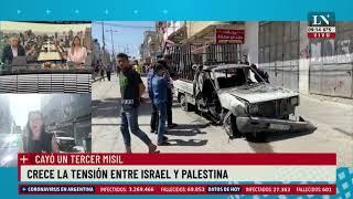 Crece la tensión entre Israel y Palestina: un misil impactó en el medio de una avenida