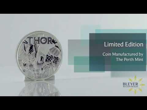 1oz Silver Tuvalu Marvel Thor 2018 Coin