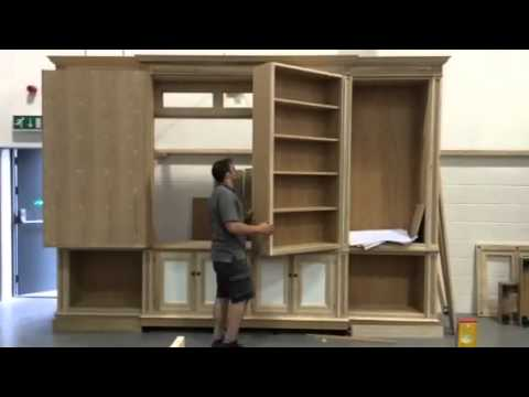 Bookcase With Secret Tv Compartment Youtube