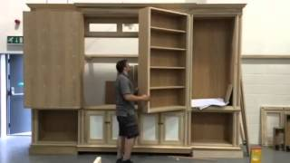 Bookcase With Secret Tv Compartment