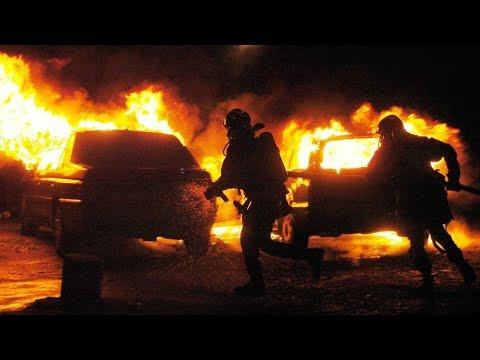 Утро в Когалыме озарил факел из трёх автомобилей