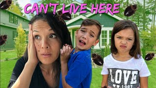 HOME EVACUATION!  BUG INFESTATION! We had to leave our home!