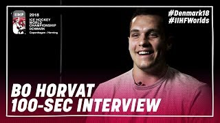 100 Seconds of Questions: Bo Horvat | #IIHFWorlds 2018