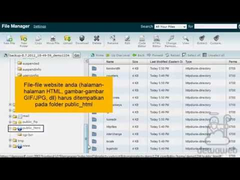 Bagaimana cara menggunakan File Manager di cPanel - YouTube