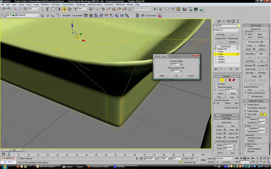 3ds Max modeling - basic cushion - YouTube bf30d25c5
