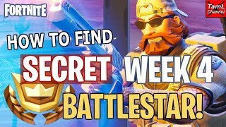 Fortnite: How to Find SECRET Week 4 Road Trip BATTLESTAR! (Season 5)