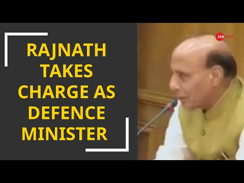 Rajnath Singh takes charge as Defence minister