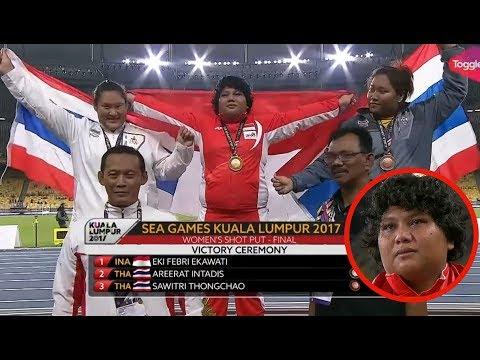 Tangis Haru EKI FEBRI EKAWATI Sumbangkan Medali Emas Untuk INDONESIA   Tolak Peluru Mp3