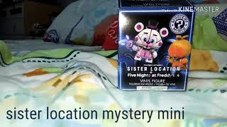 Sister location mysteries minis Unboxing 😉🙂