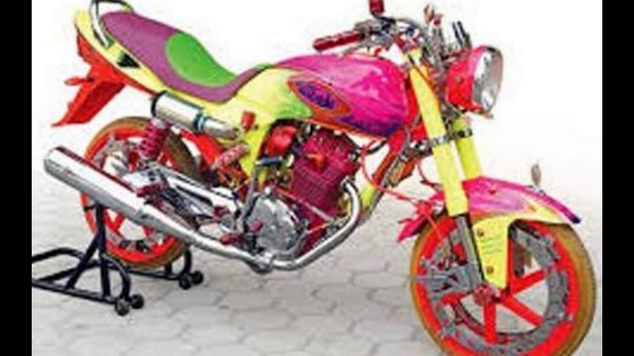 80 Modifikasi Motor Megapro Airbrush Terunik Kempoul Motor