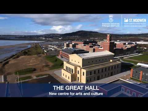 Swansea University, Bay Campus, developed by St. Modwen - drone footage, February 2016