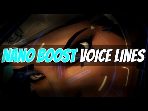 Overwatch - Every Hero Nano Boosted! (Voice Lines)