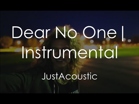 Dear No One - Tori Kelly (Acoustic Instrumental)