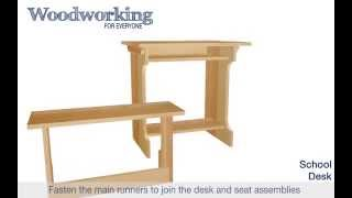 Woodworking For Everyone: School Desk Animation