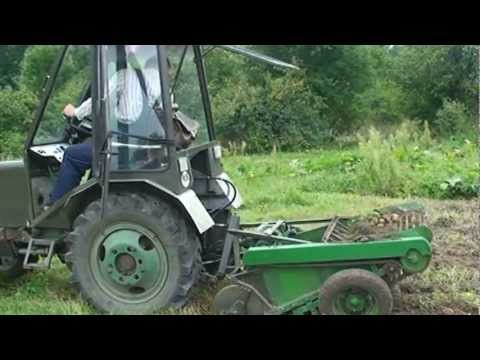 лопата самодельная на МТЗ - YouTube