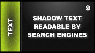 Web Design Tutorials for Xara Web Designer 9 Premium: Text With A Shadow Lesson 120