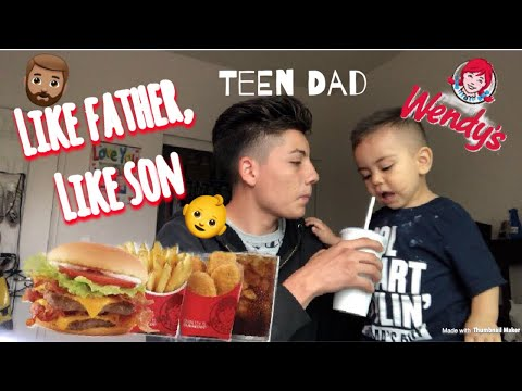 HOW IT FEELS TO BE A TEEN DAD AT 16 | WENDY'S MUKBANG