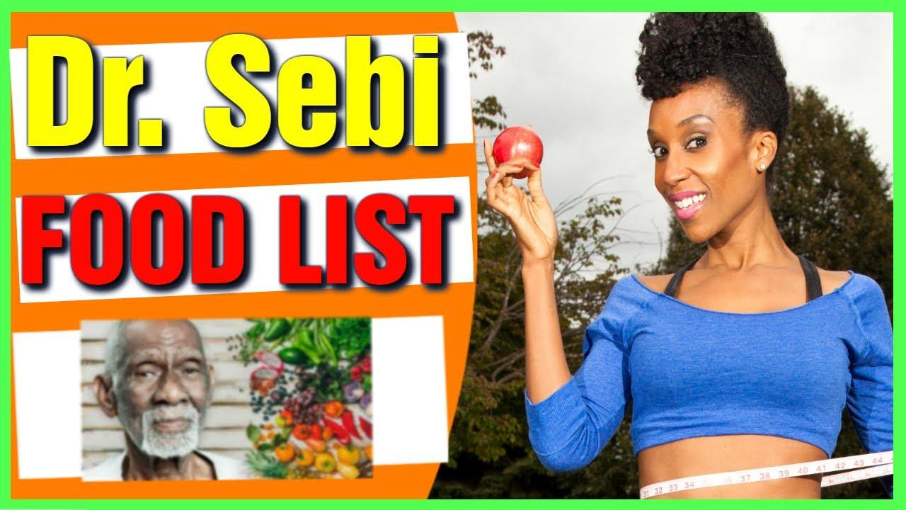 Dr Sebi Food List Alkaline Food List Dr Sebi Meal Plan Ideas Youtube