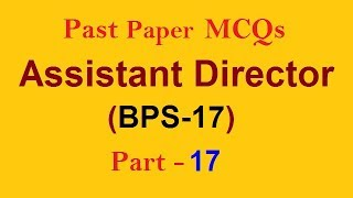 Solved Question of Assistant Director BPS-17 PMS CSS FPSC PPSC NTS