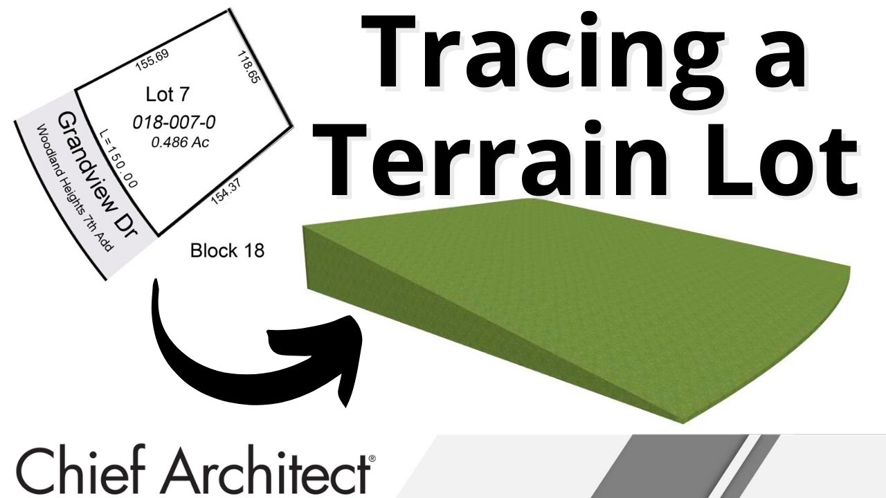 Trace A Terrain Lot Image To Create A Site Plan Or Terrain
