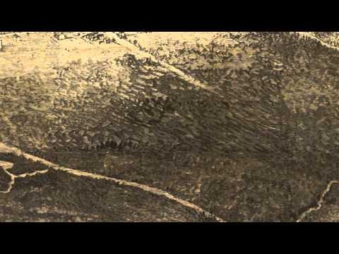 Saratoga Springs New York 1874 Panoramic Bird's Eye View Map 7340