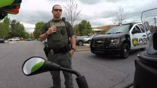 Being pulled over for the first time on a bike