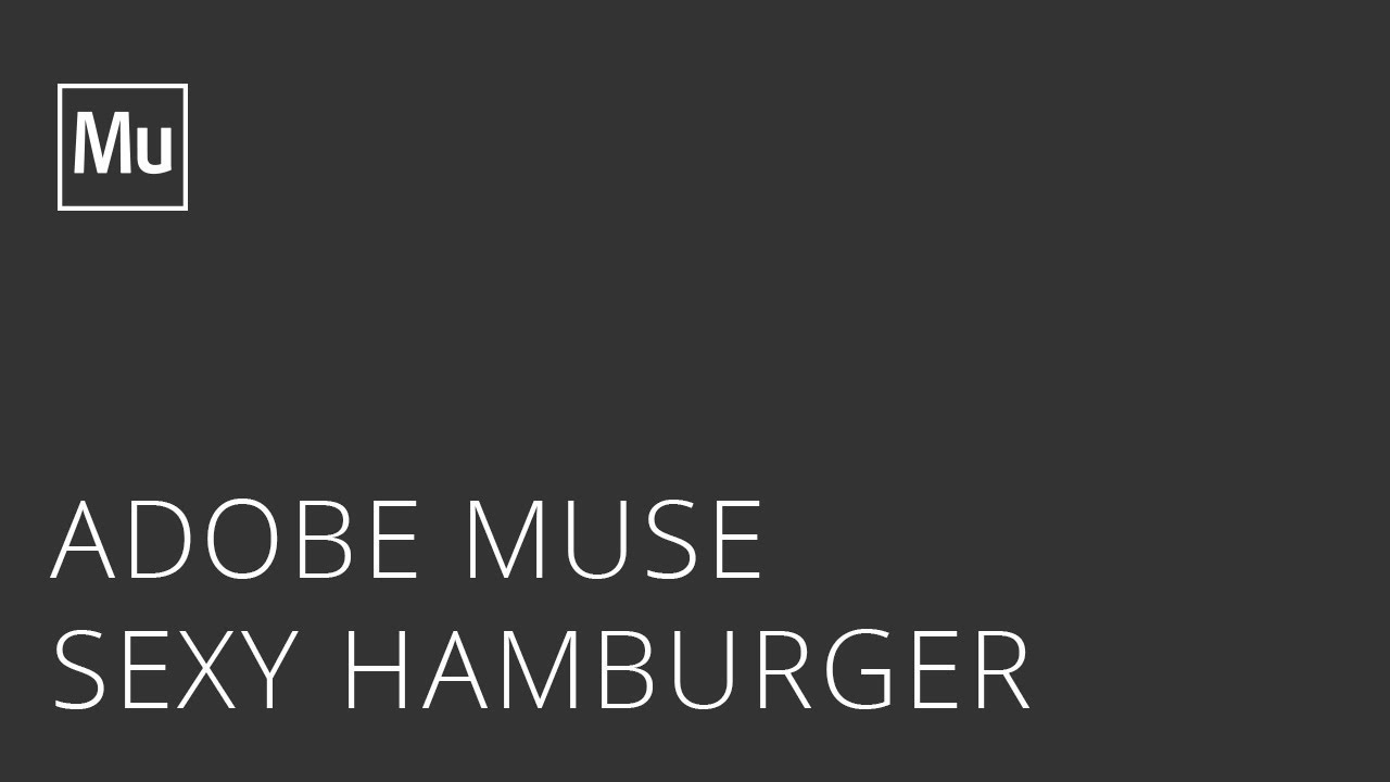 Sexy Hamburger Widget for Adobe Muse by Musefree