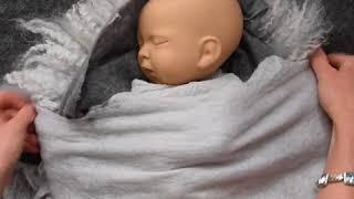 SILVER GREY TULIP SET DEMO video,  Newborn Photography Props , Ababa Baby Props Demo video Grey4