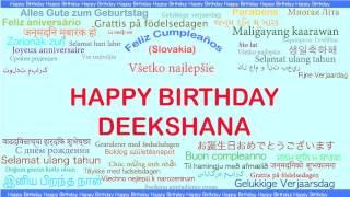 Deekshana   Languages Idiomas - Happy Birthday