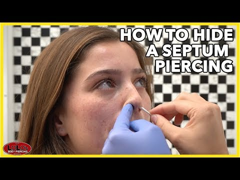 How To Hide A Septum Piercing!!