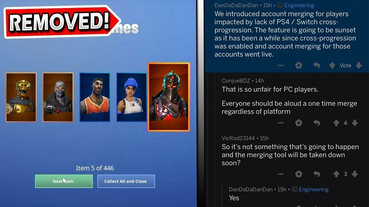 WHY DID EPIC GAMES *REMOVED*ACCOUNT MERGING FEATURE ...