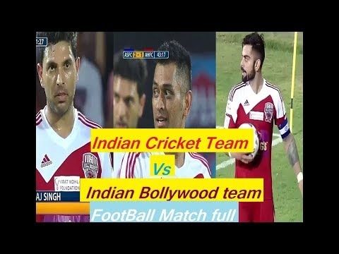 ASFC Vs AHFC | INDIAN CRICKET TEAM Vs INDIAN BOLLYWOOD TEAM FOOTBALL MATCH HD VIDEOS
